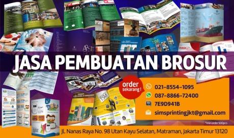 Jasa Cetak percetakan pencetakan pembuatan Brosur  online banner depan